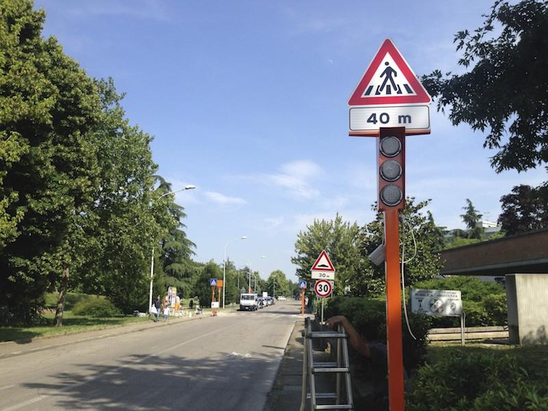 Ozzano dell' Emilia attraversamenti pedonali Bologna