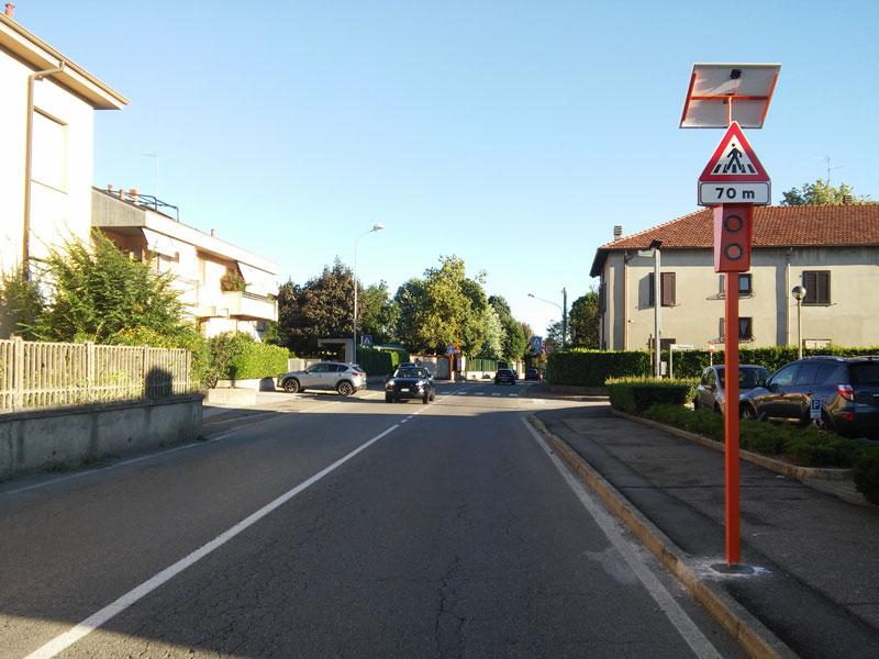 Pedone Sicuro nel comune di Arosio (Como)